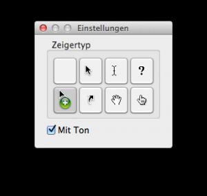 Bildschirmfoto Zeigertypen
