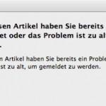 Fehlermeldung iTunes