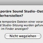 Fehlermeldung Sound Studio